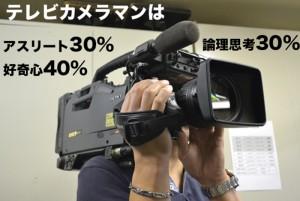 ニッチな職業「成分」図鑑VOL.1「テレビカメラマン」